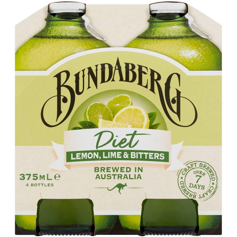 Bundaberg Diet Lemon Lime & Bitters, 4 Each