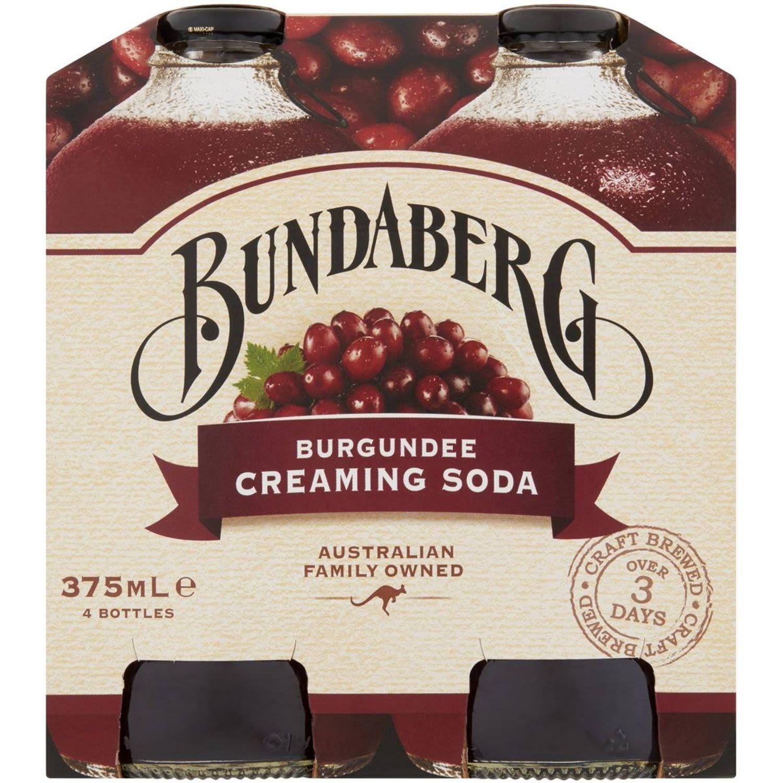 Bundaberg Burgundee Creaming Soda, 4 Each