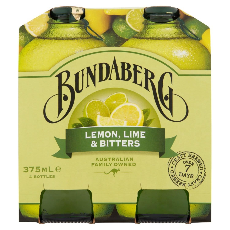 Bundaberg Lemon, Lime & Bitters, 4 Each