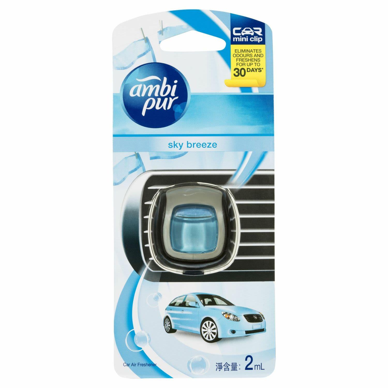Ambi Pur Mini Clip Car Air Freshener Sky Breeze, 2 Millilitre