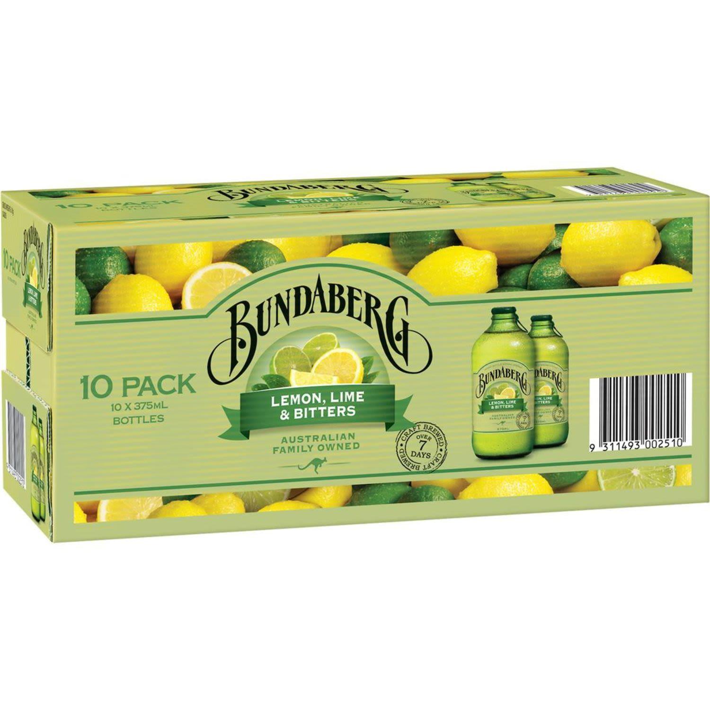 Bundaberg Lemon, Lime & Bitters, 10 Each