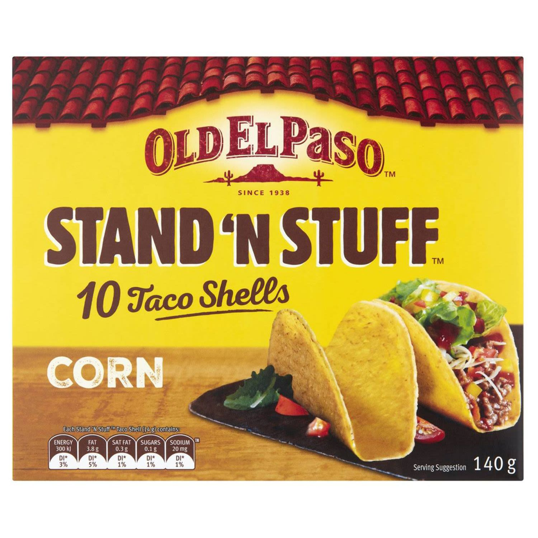 Old El Paso Taco Shells Jumbo, 10 Each