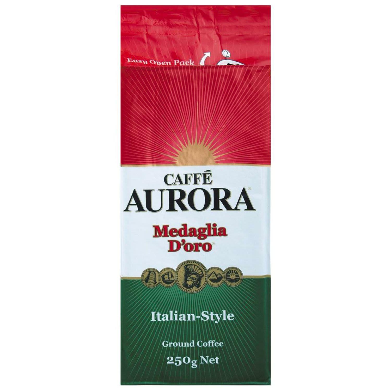 Caffe Aurora Ground Coffee Italian Style, 250 Gram