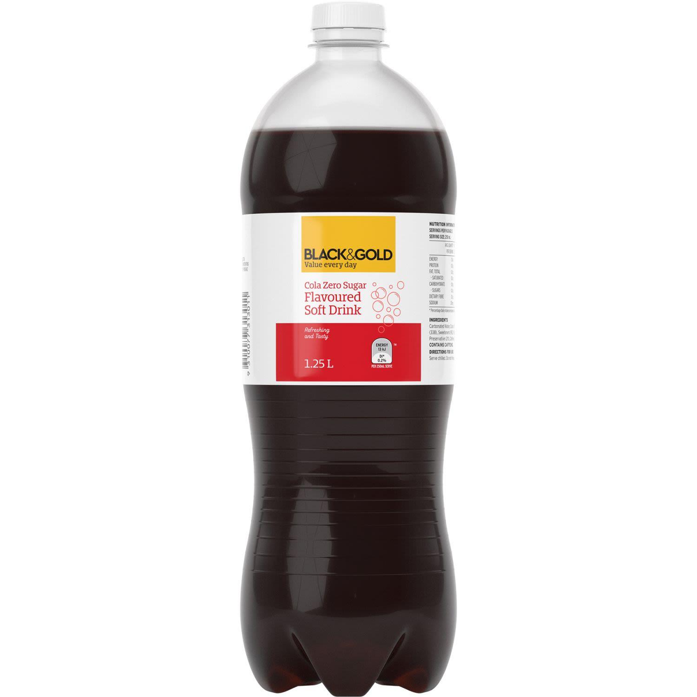 Black & Gold Cola Zero Sugar, 1.25 Litre
