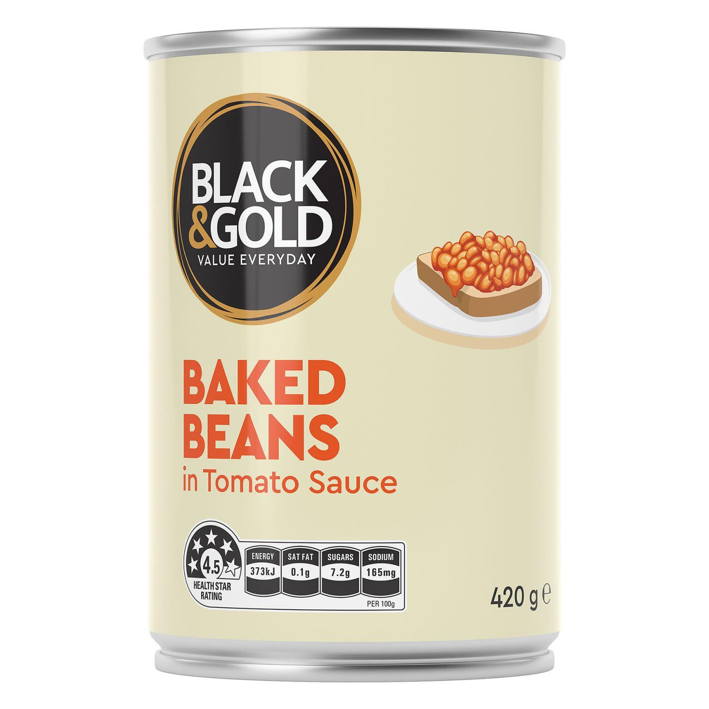 Black & Gold Baked Beans in Tomato Sauce, 420 Gram