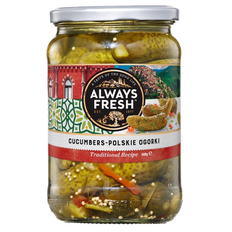 Always Fresh Cucumbers Polish Ogor, 680 Gram