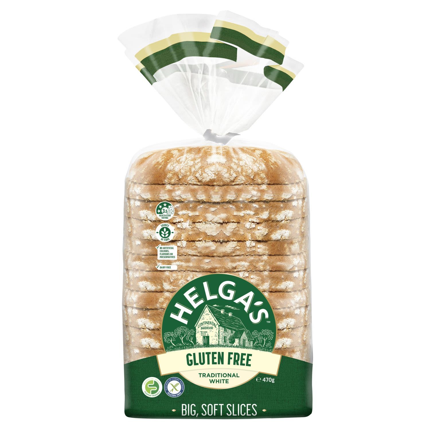 Helga's Gluten Free bread is full of all the good things you love about Helga's, without the gluten.  Helga's bakers bake our loaves with large slices so that you can enjoy satisfying sandwiches and toast everyday. Every slice is soft and delicious so sandwiches are back on the menu!  It's not just bread. It's Helga's®