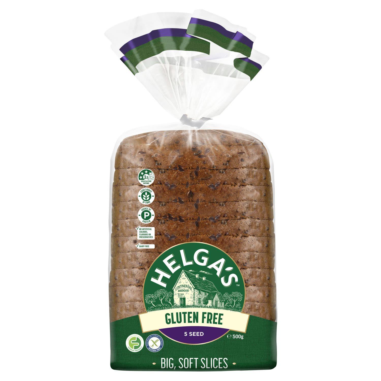 Helga's Gluten Free 5 Seed Sliced Bread Mini Loaf, 500 Gram