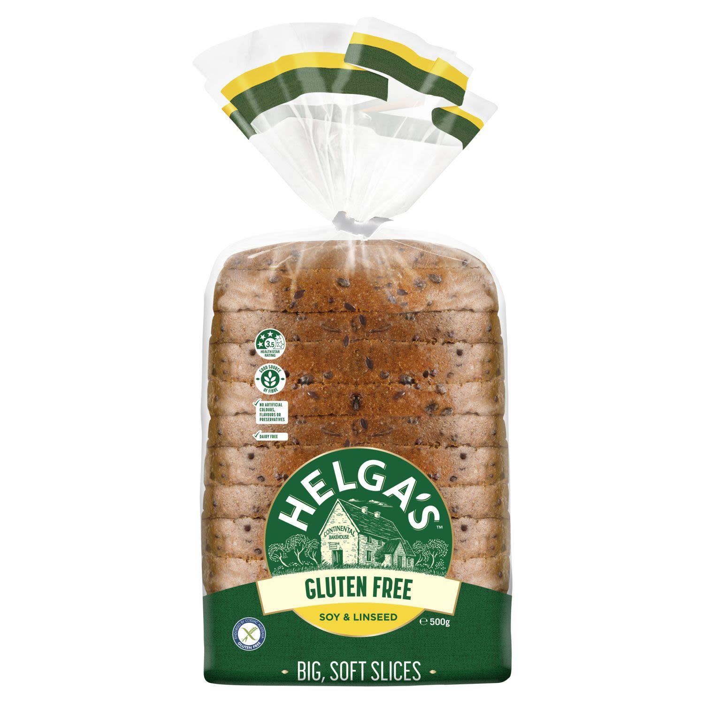 Helga's Gluten Free Soy & Linseed Bread, 500 Gram