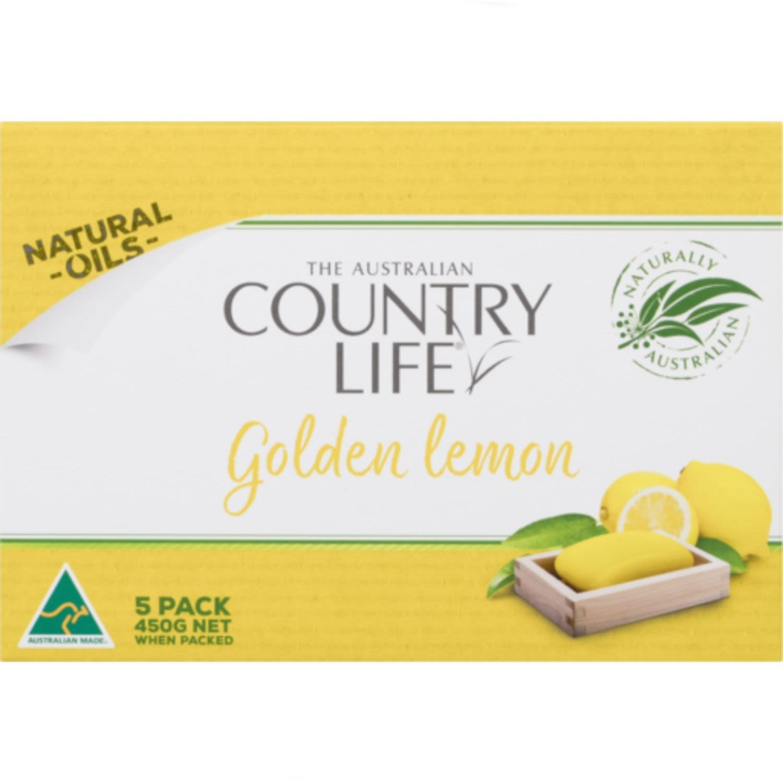 Country Life Soap Golden Lemon, 5 Each