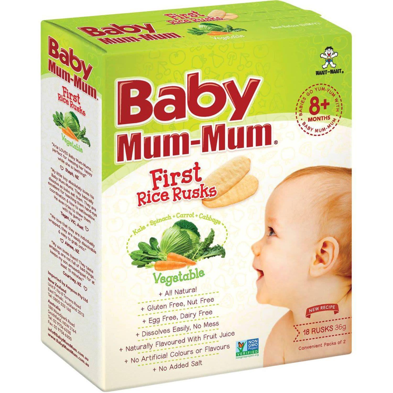 Baby Mum Mum Snack Original Rice Rusk, 36 Gram
