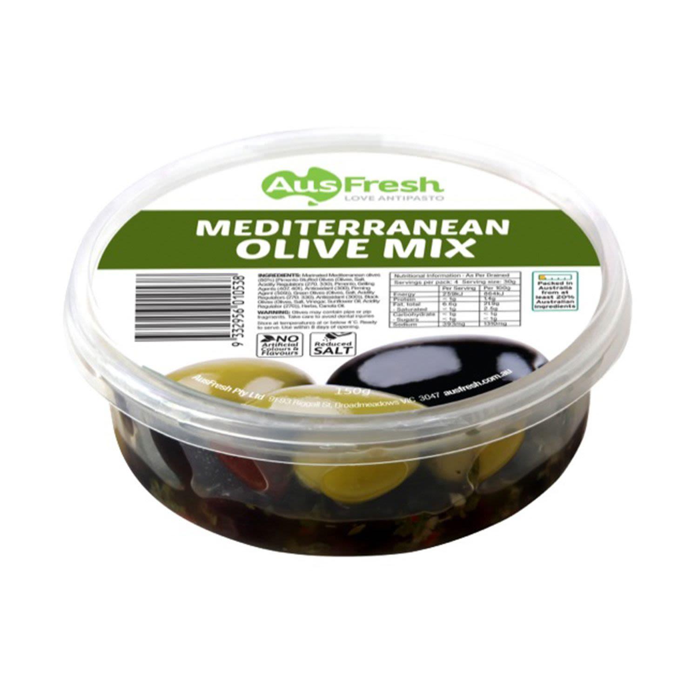 AusFresh Mediterranean Olives Mix, 150 Gram