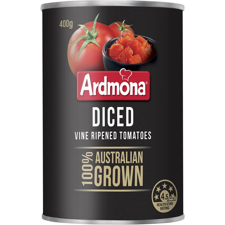 Ardmona Tomatoes Diced No Added Salt, 400 Gram