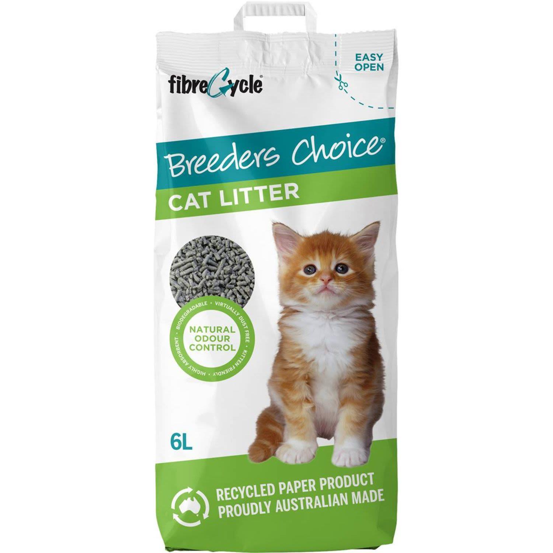 Breeders Choice Paper Cat Litter , 6 Litre