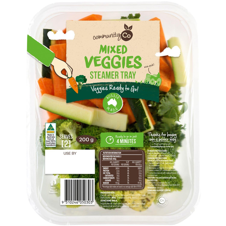 Community Co Mixed Veggies Steamer Tray, 200 Gram