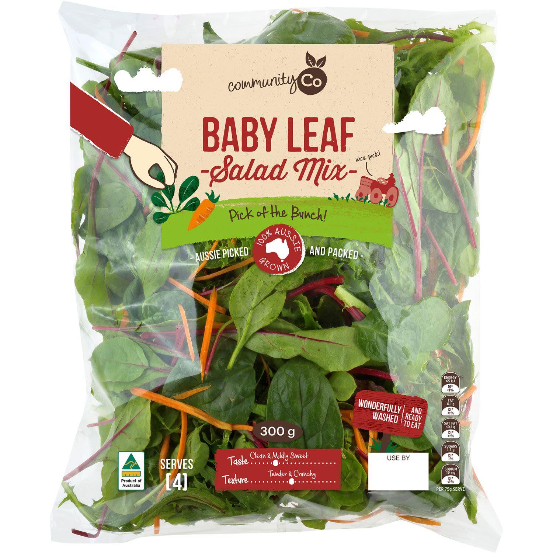 Community Co Baby Leaf Salad Mix, 300 Gram