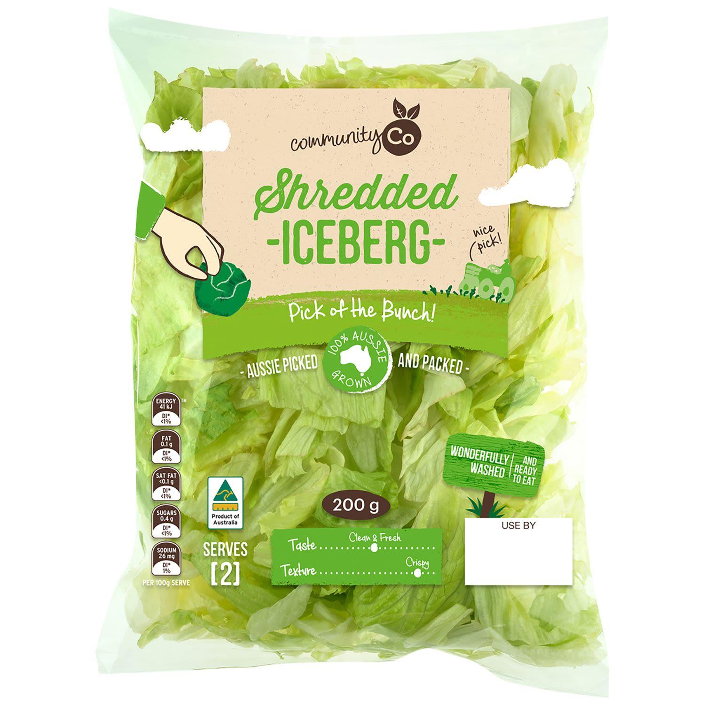 Community Co Shredded Iceberg Lettuce, 200 Gram