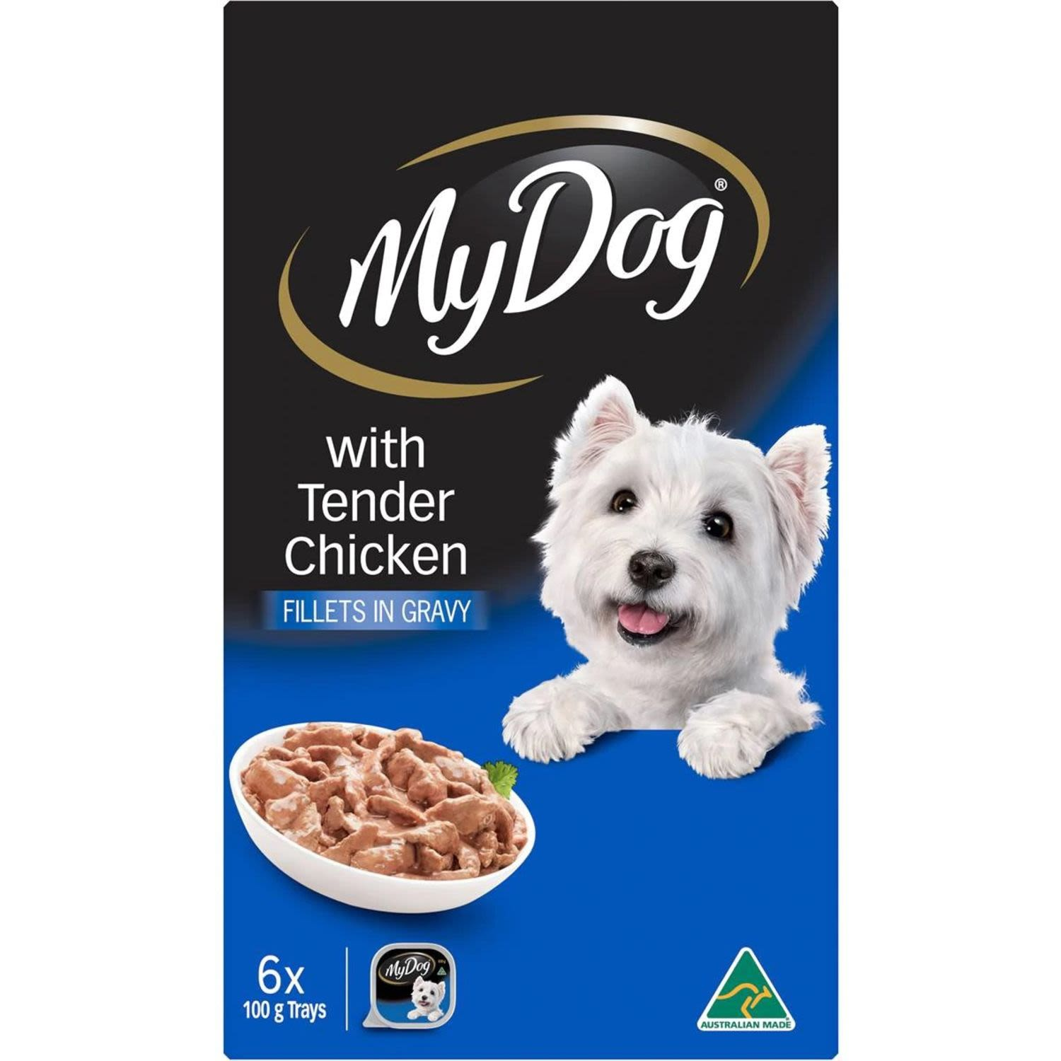 My Dog Fillets In Gravy With Tender Chicken Wet Dog Food Trays, 6 Each