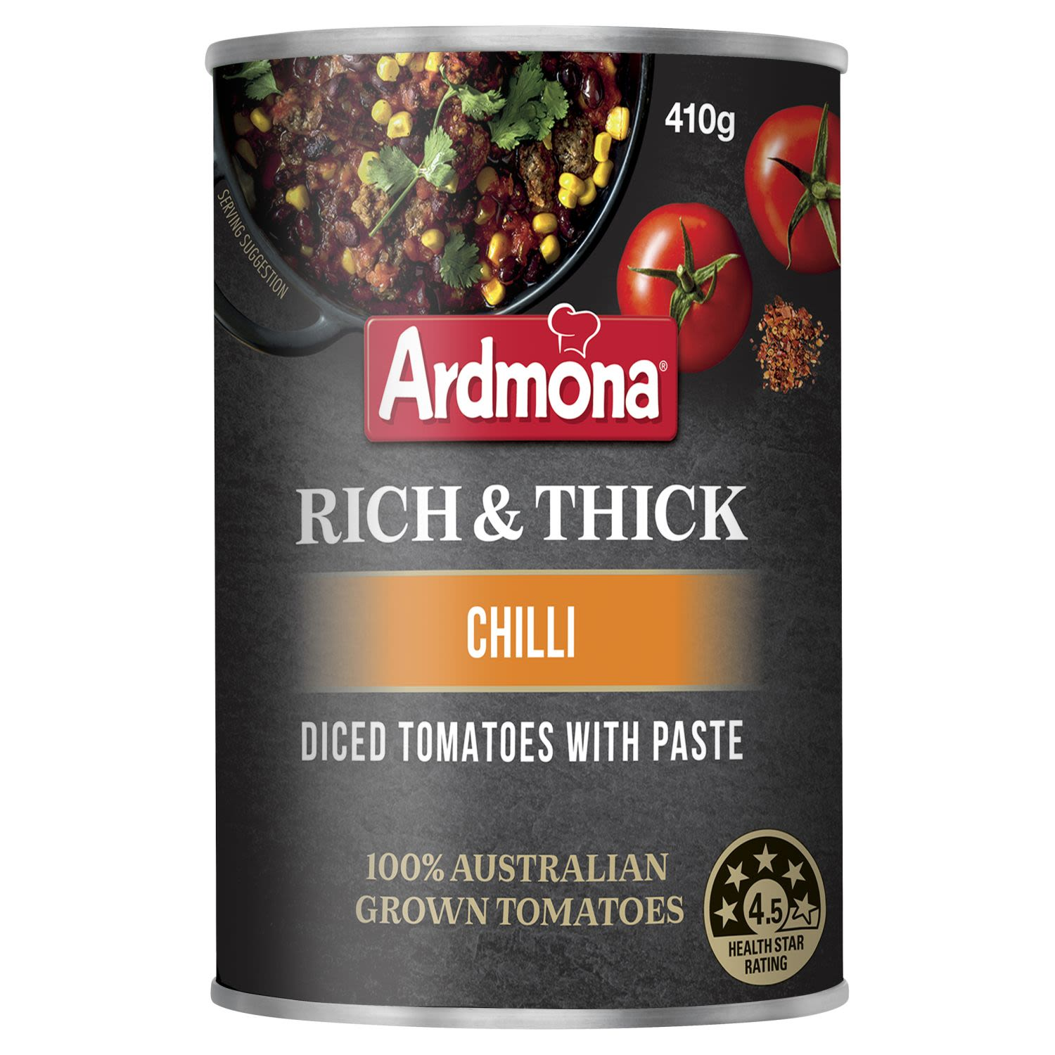 Ardmona Rich & Thick Diced Tomatoes with Paste Chilli, 410 Gram