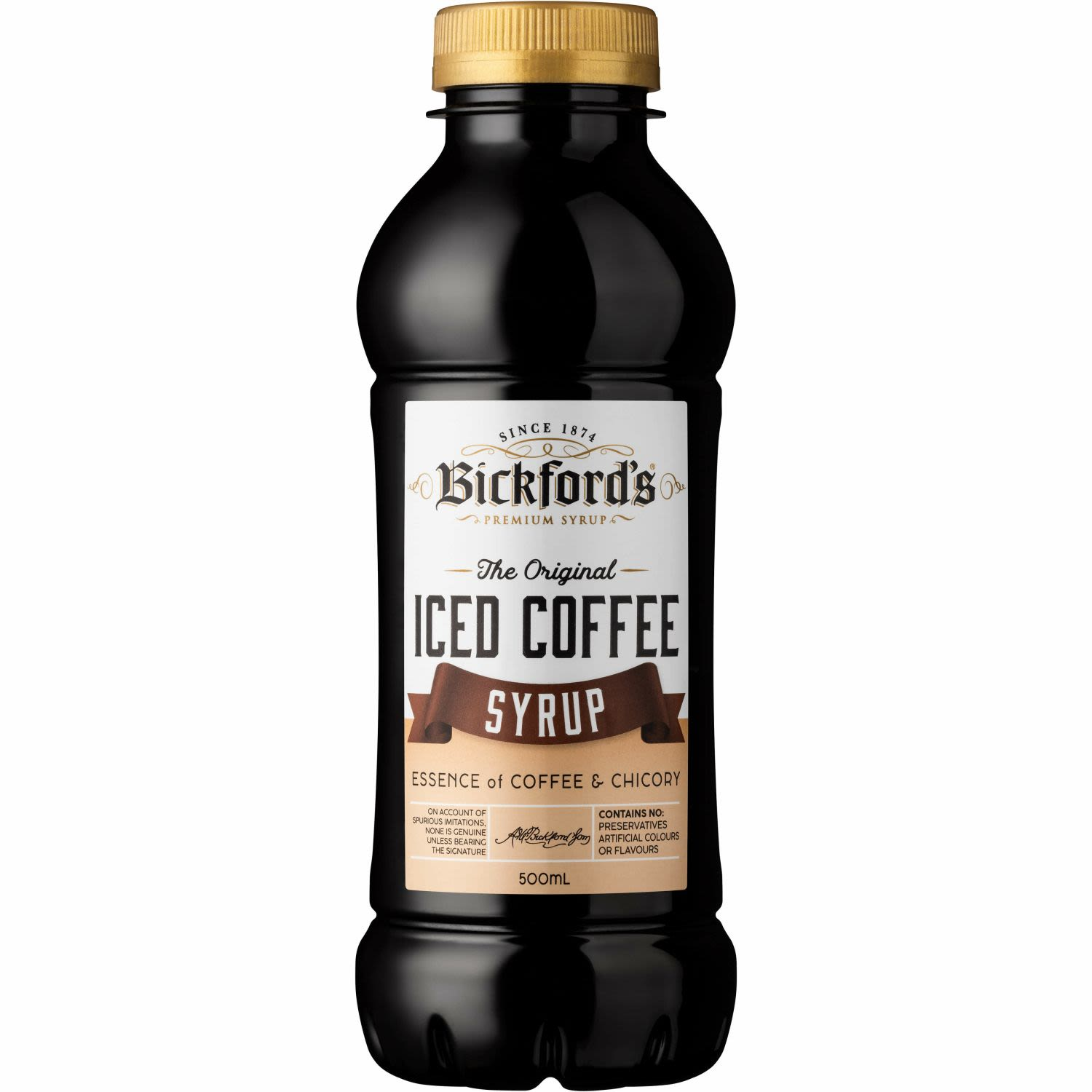 Bickfords Iced Coffee Syrup, 500 Millilitre