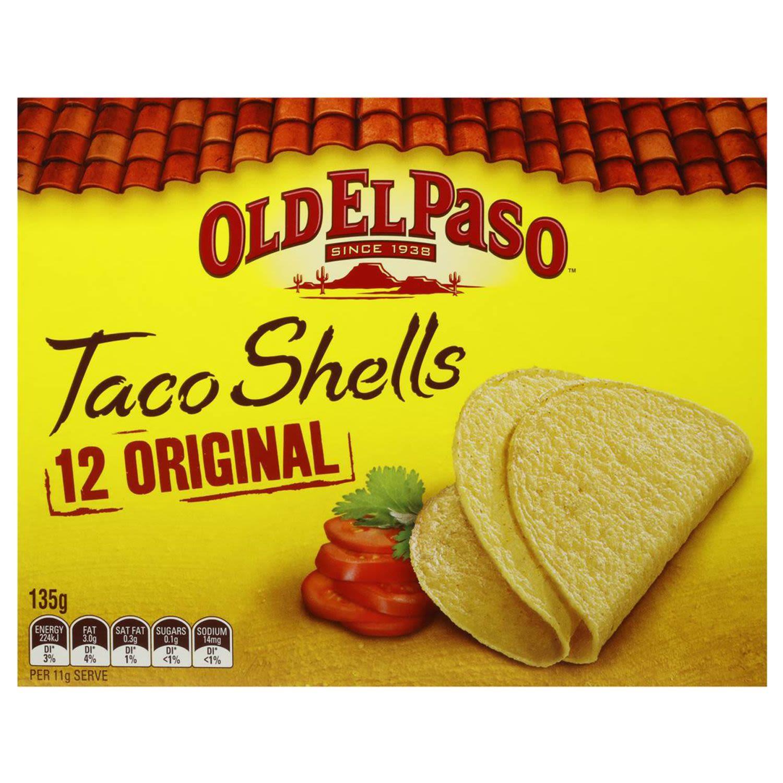 Old El Paso Taco Shells Regular Crunchy, 12 Each