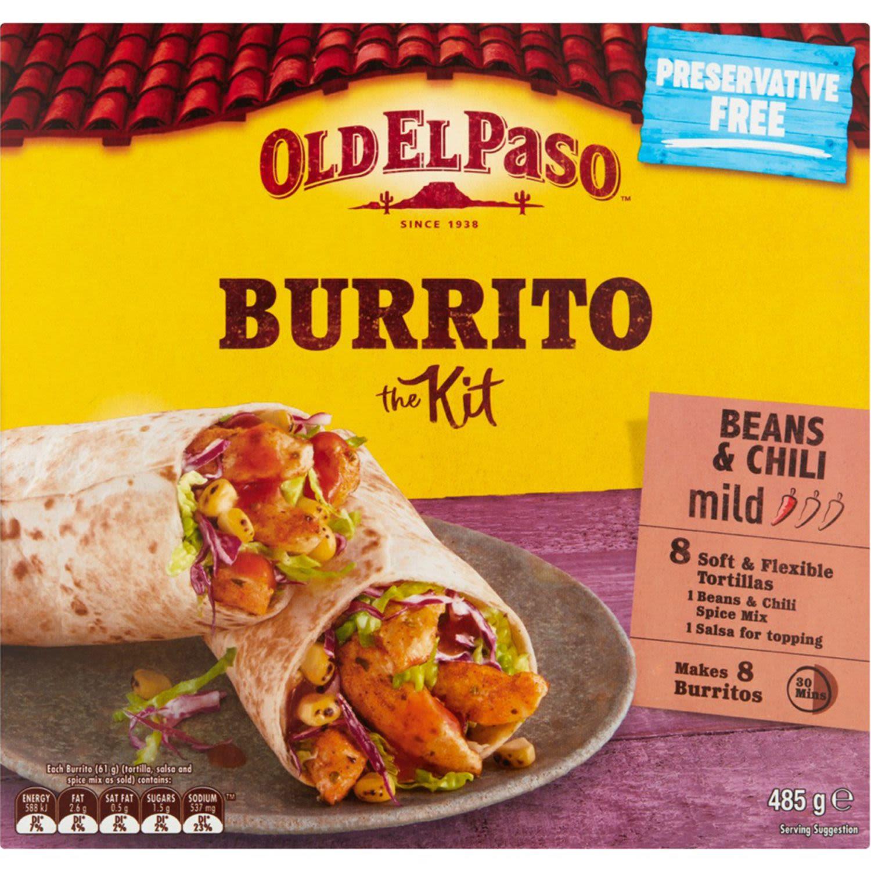 Old El Paso Mild Burrito Kit, 8 Each