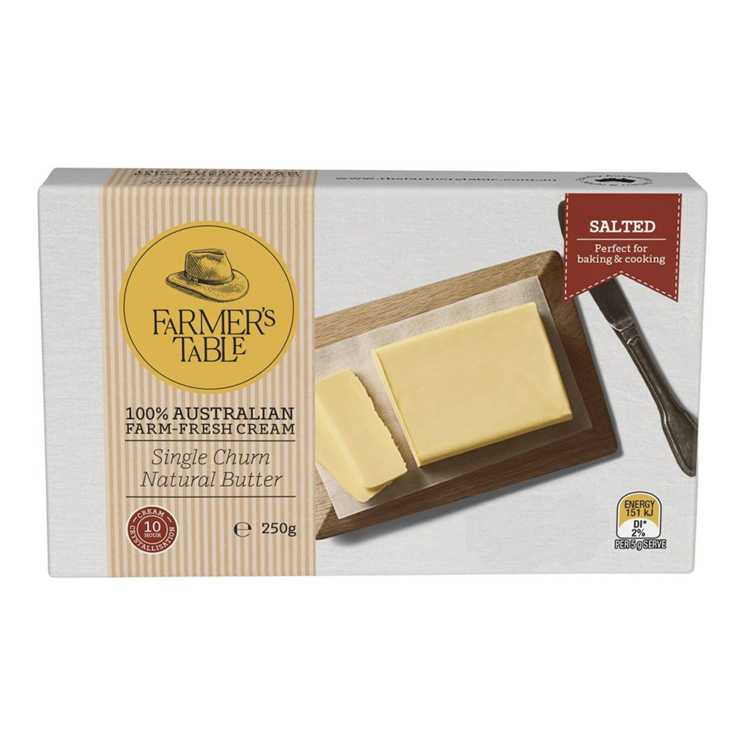 Farmers Table Butter Salted, 250 Gram