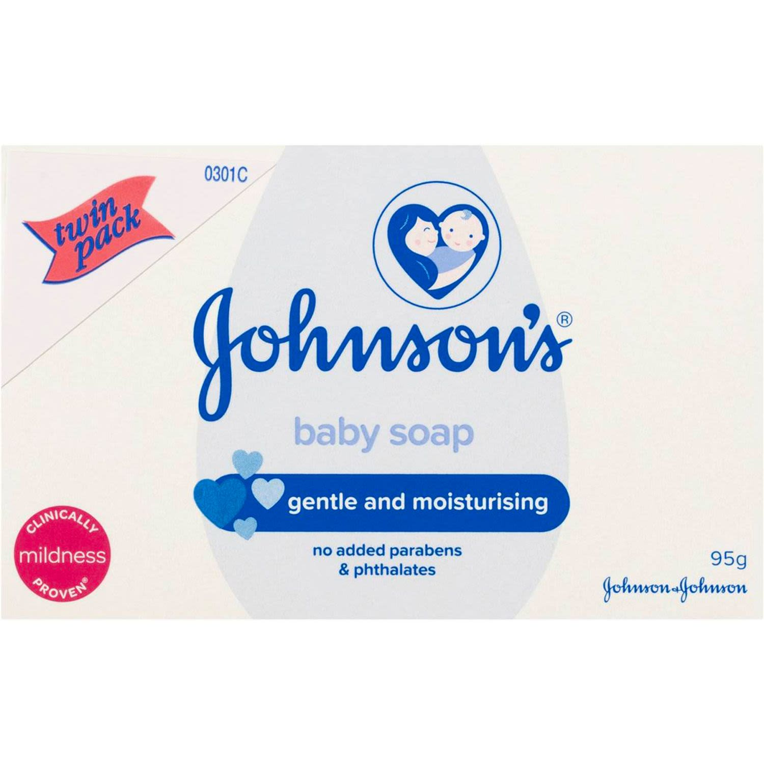 Johnson's Baby Soap Twin Pack, 2 Each