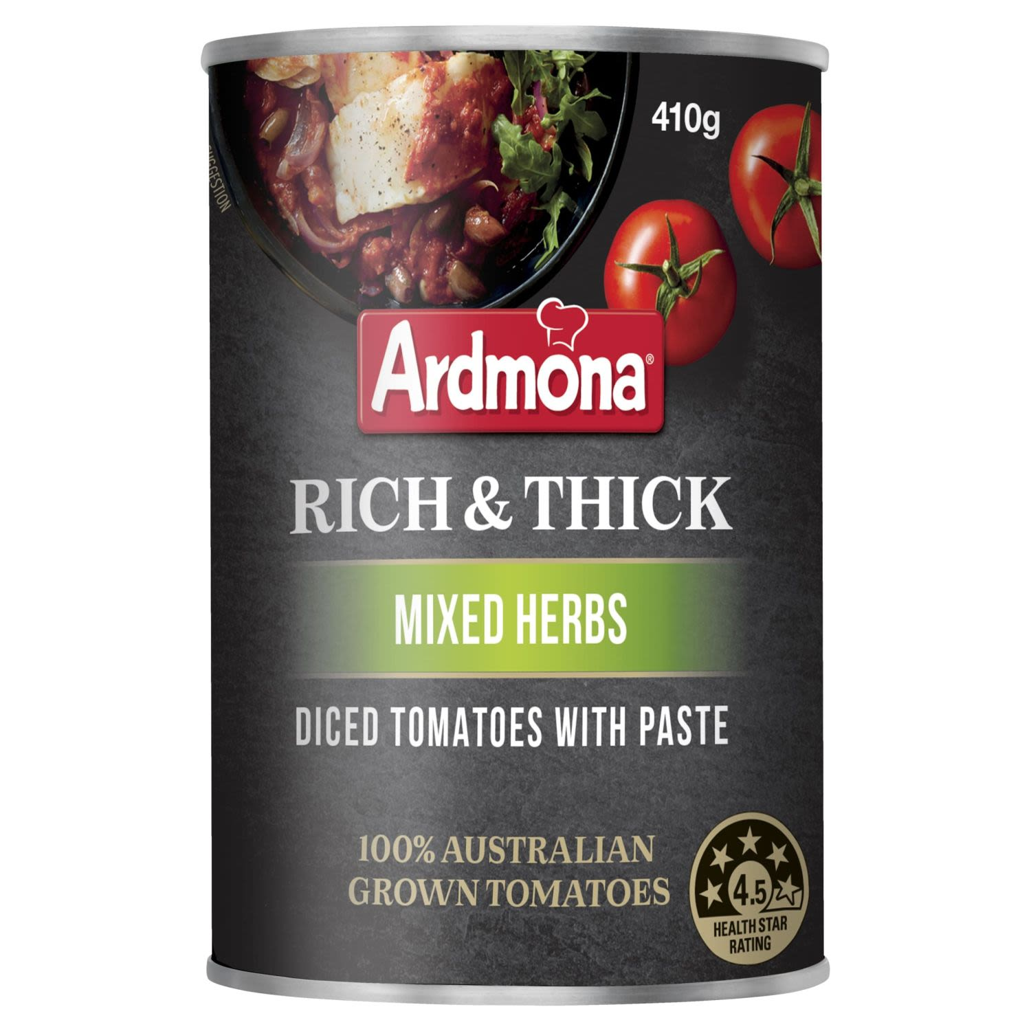 Ardmona Rich & Thick Diced Tomato with Paste Mixed Herbs, 410 Gram