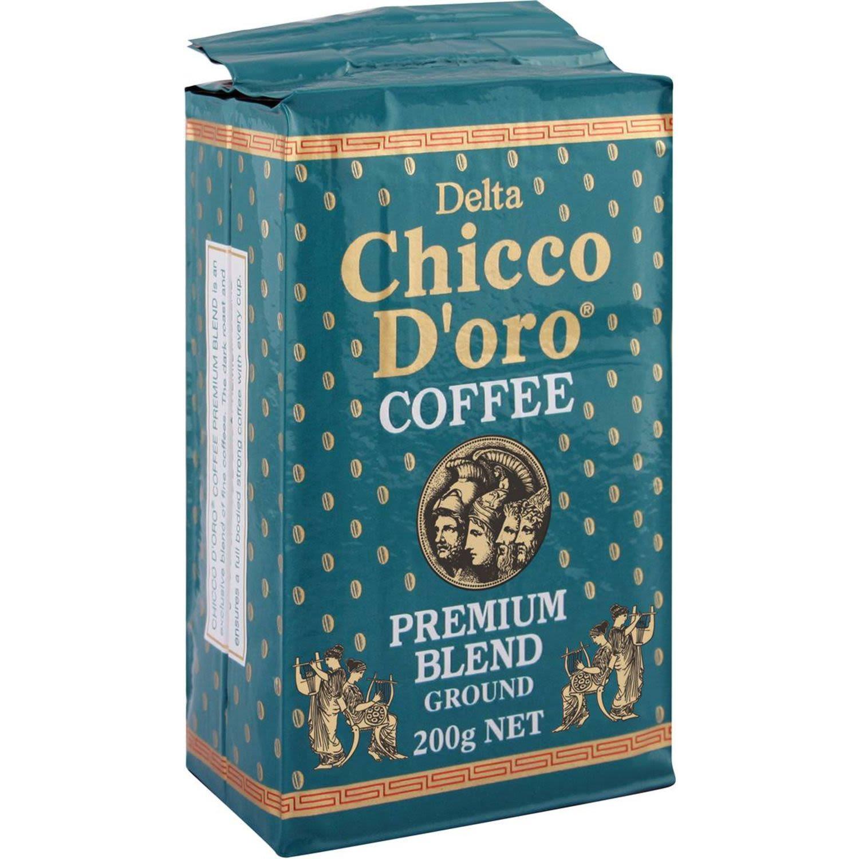 Delta Chicco D'oro Ground Coffee, 200 Gram