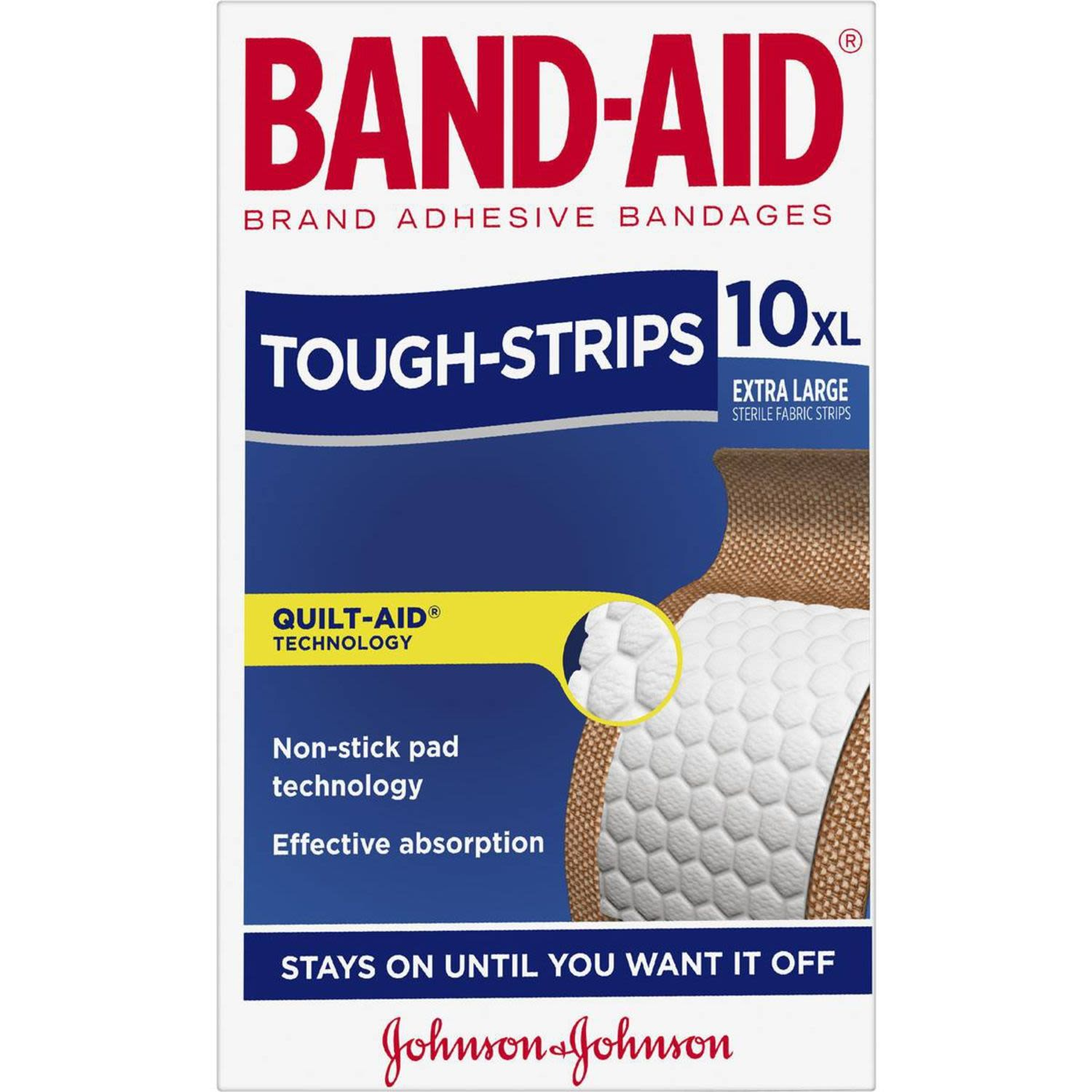 Band-Aid Tough Strips Extra Large Fabric Strips, 10 Each