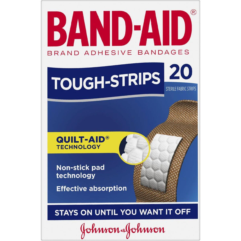 Band-Aid Tough Strips Regular, 20 Each