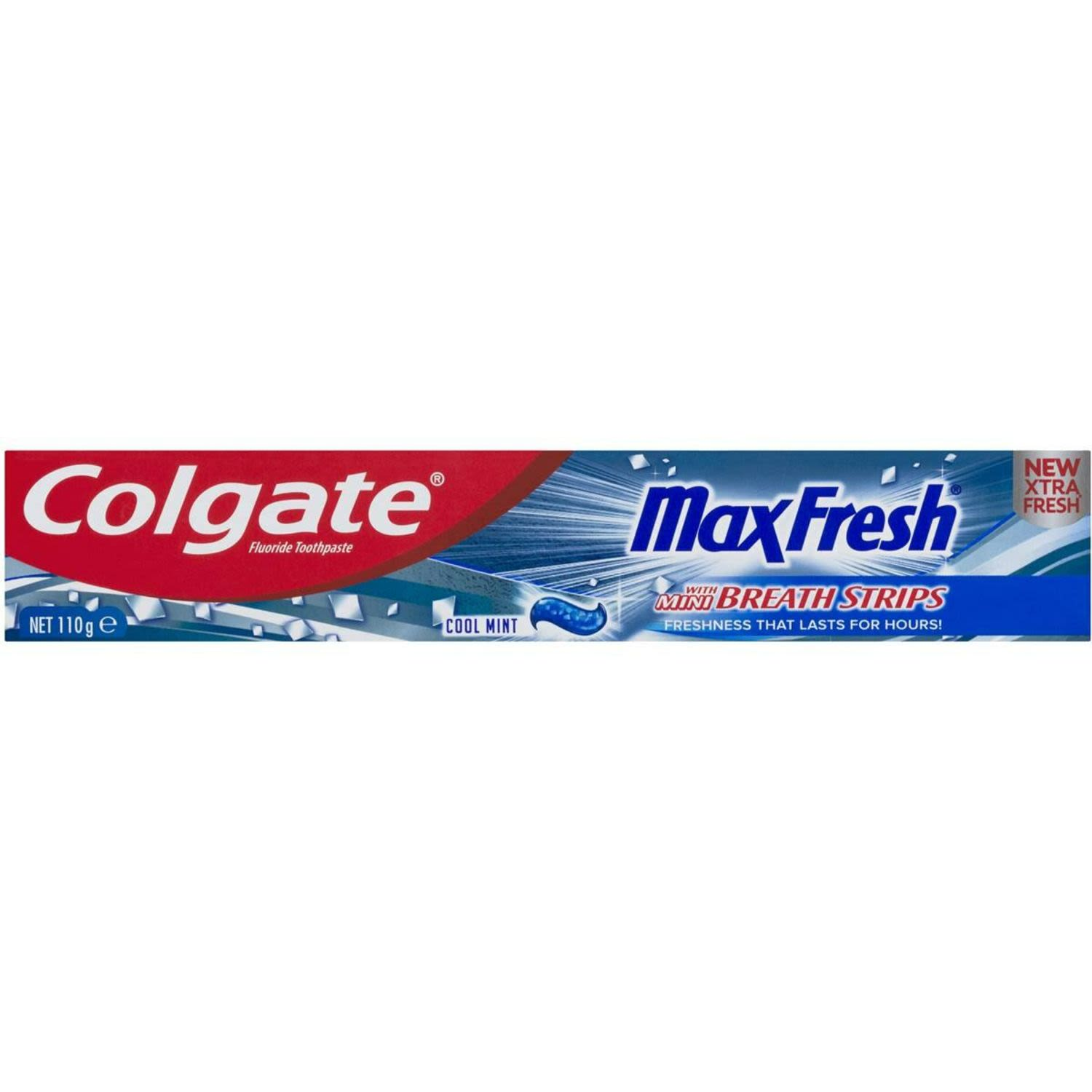 Colgate Max Fresh Breath Toothpaste with Mini Breath Strips Cool Mint, 110 Gram