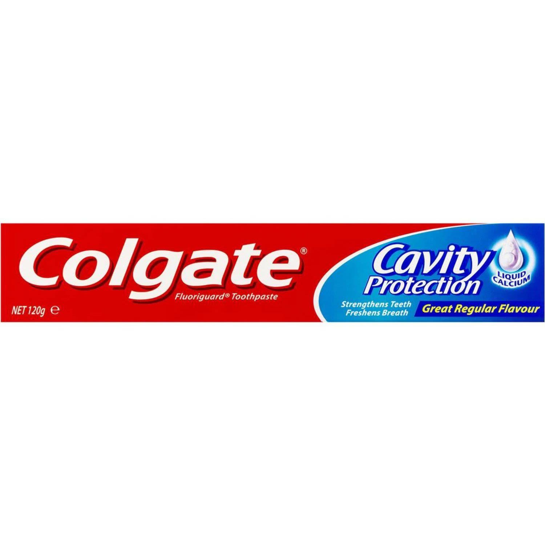 Colgate Cavity Protection Great Regular Flavour Fluoride Toothpaste with Liquid Calcium, 120 Gram