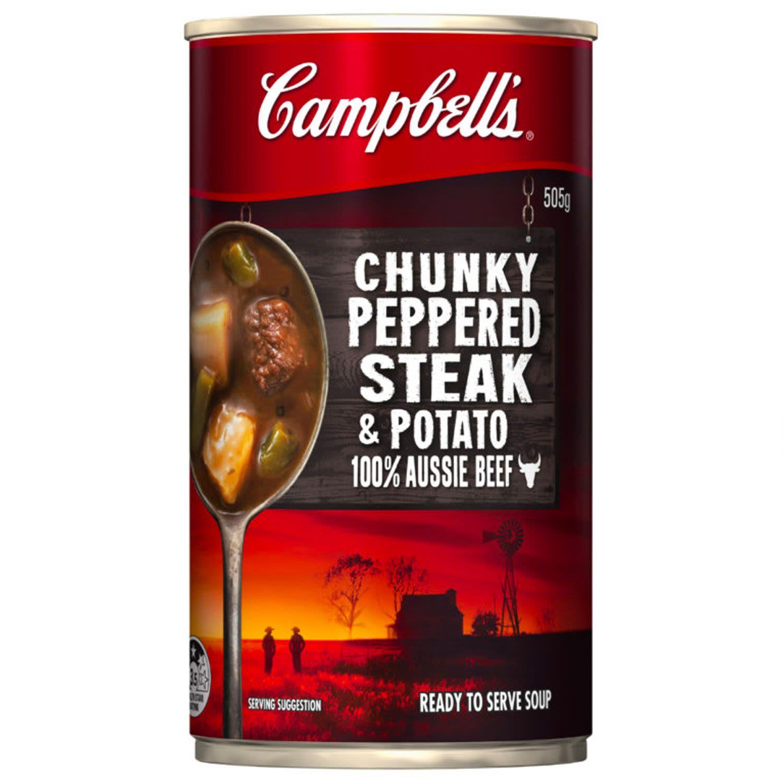 Campbell's Soup Chunky Pepper Steak, 505 Gram