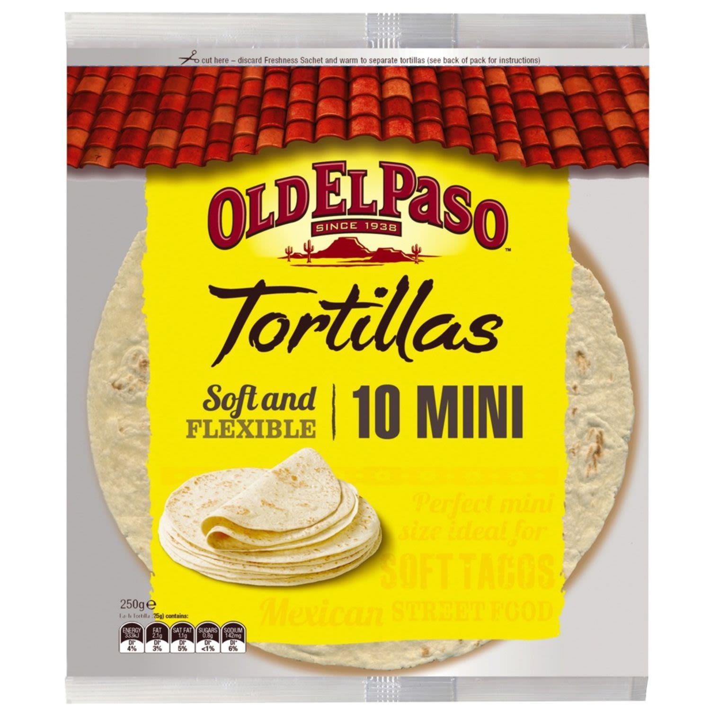 Old El Paso Mini Tortillas, 10 Each