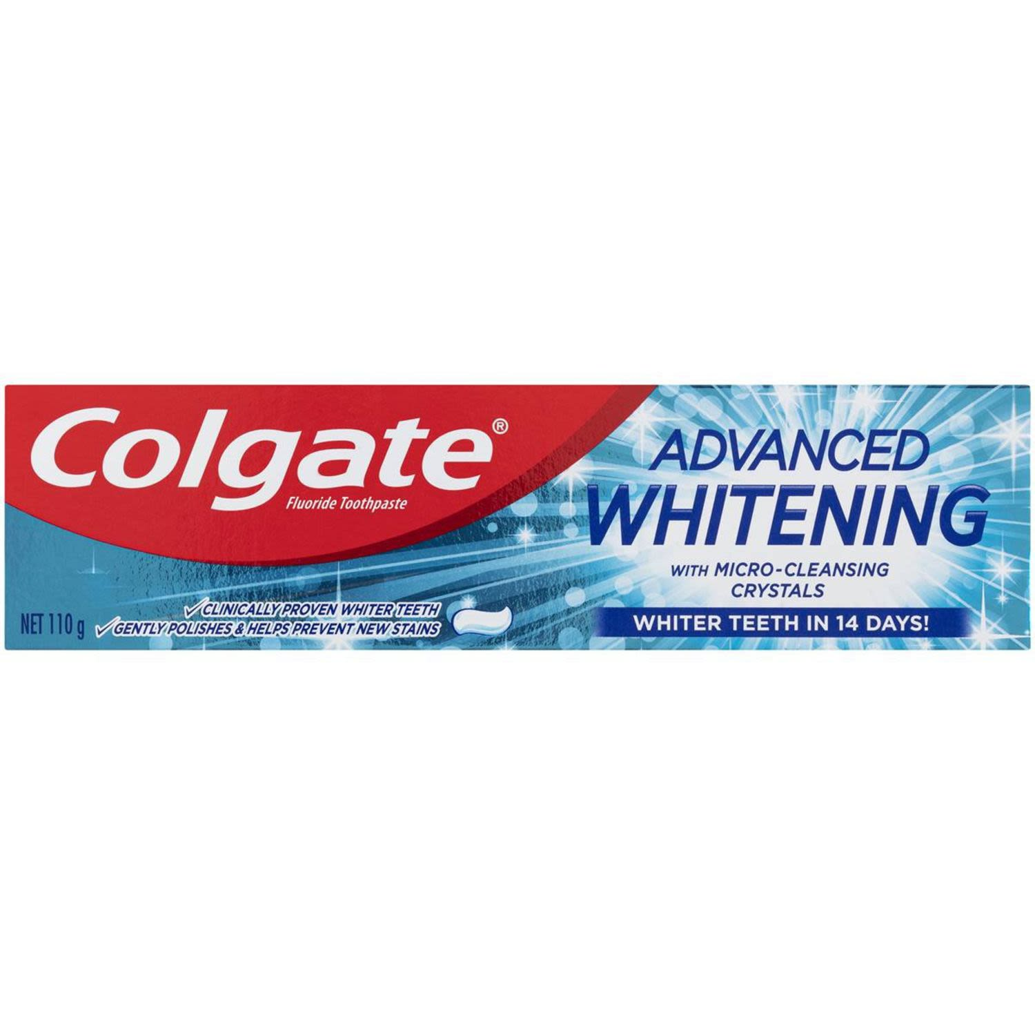 Colgate Advanced Whitening Tartar Control Whitening Toothpaste with Microcleansing Crystals, 120 Gram