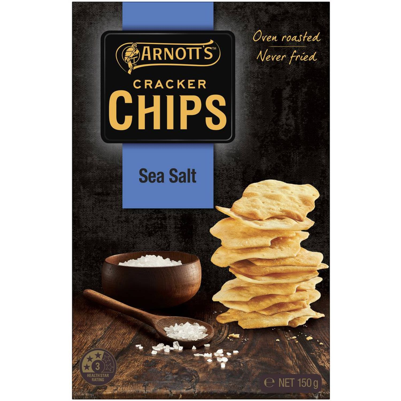 Arnott's Cracker Chips Sea Salt, 150 Gram