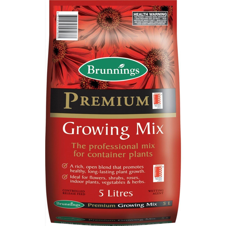 Brunnings Premium Potting Mix, 5 Litre