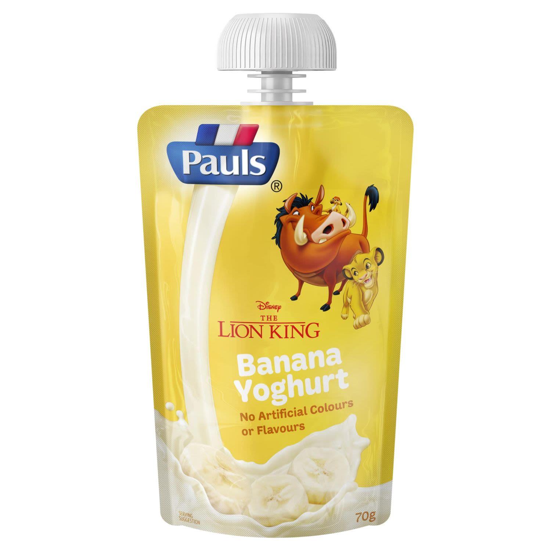 Pauls Kids Banana Yoghurt The Lion King, 70 Gram