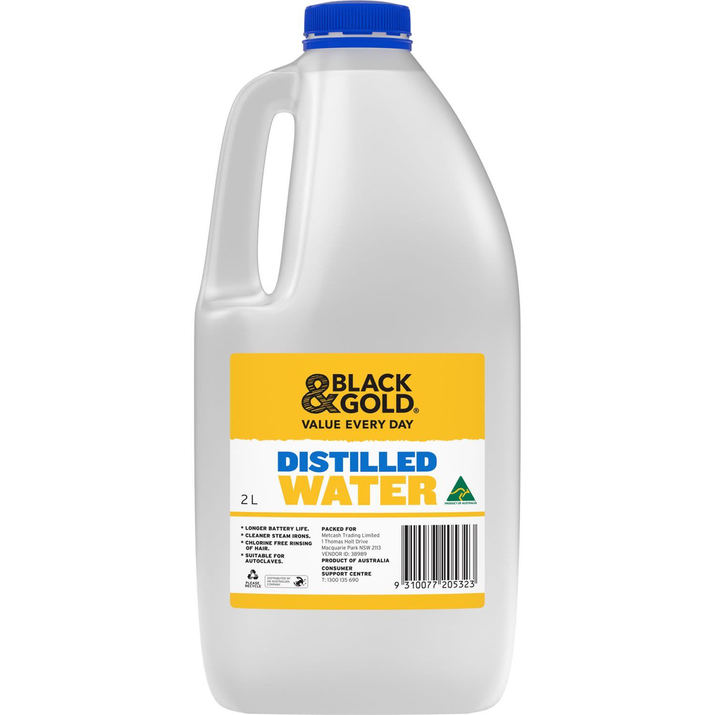 Black & Gold Distilled Water, 2 Litre