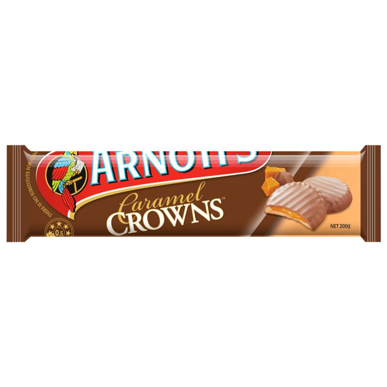 Arnott's Chocolate Caramel Crowns, 200 Gram