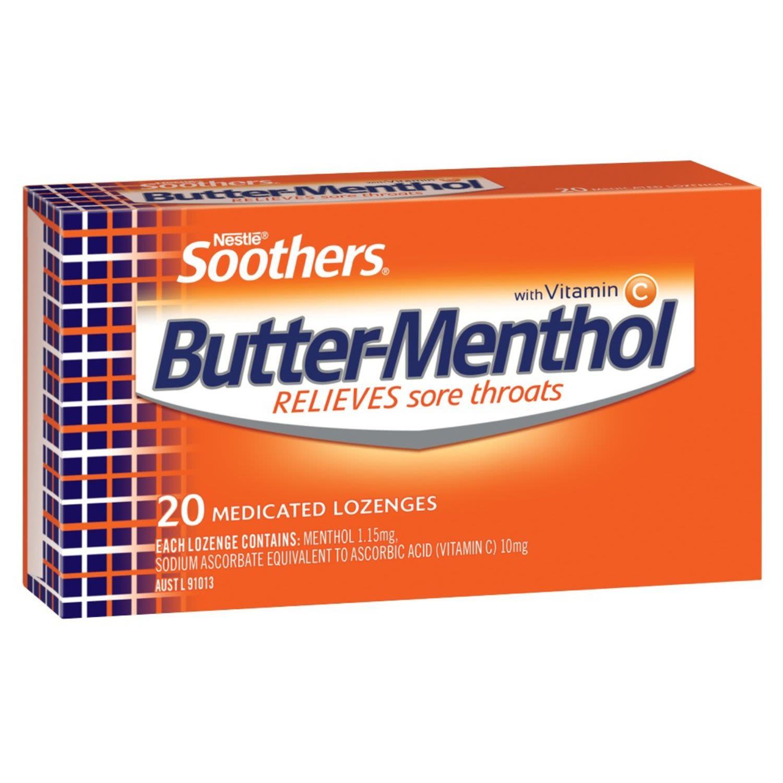 Allen's Butter-menthol Throat Lozenge, 20 Each