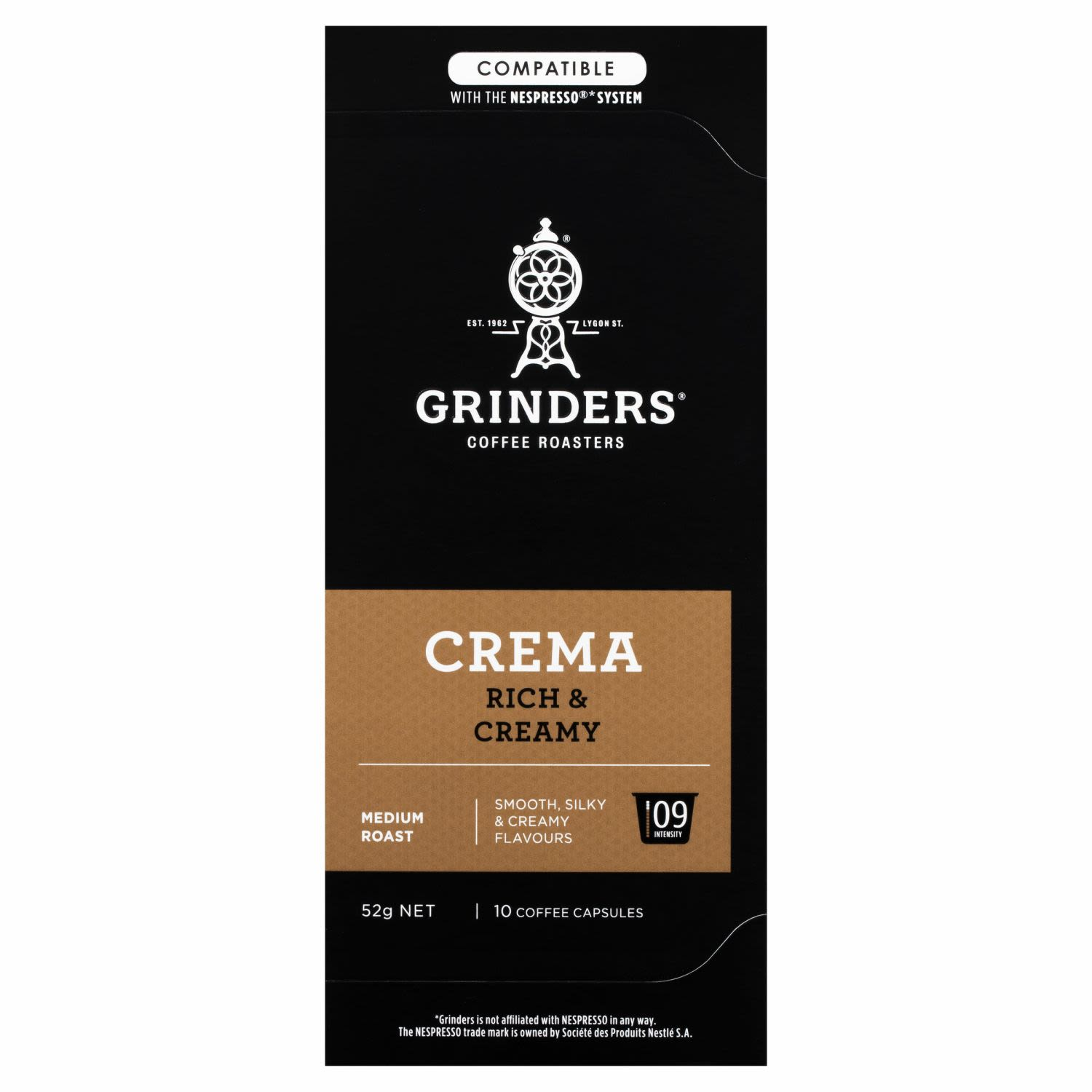 Grinders Coffee Capsules Crema Caffitaly System, 10 Each