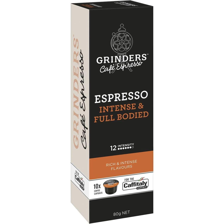 Grinders Espresso Coffee Capsules, 10 Each