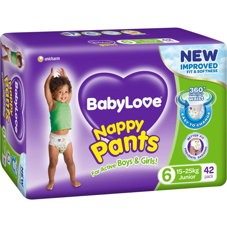 BabyLove Nappy Pants Jumbo Junior, 42 Each