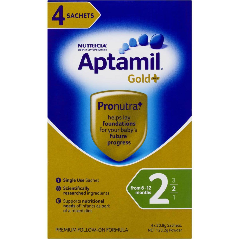 Aptamil Gold+ Follow-on Formula Multipack Sachet, 4 Each