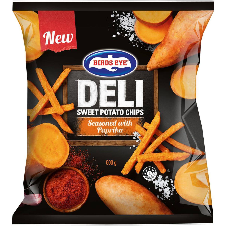 Birds Eye Deli Sweet Potato Chips, 600 Gram