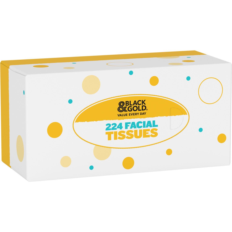 Black & Gold Facial Tissues, 1 Each