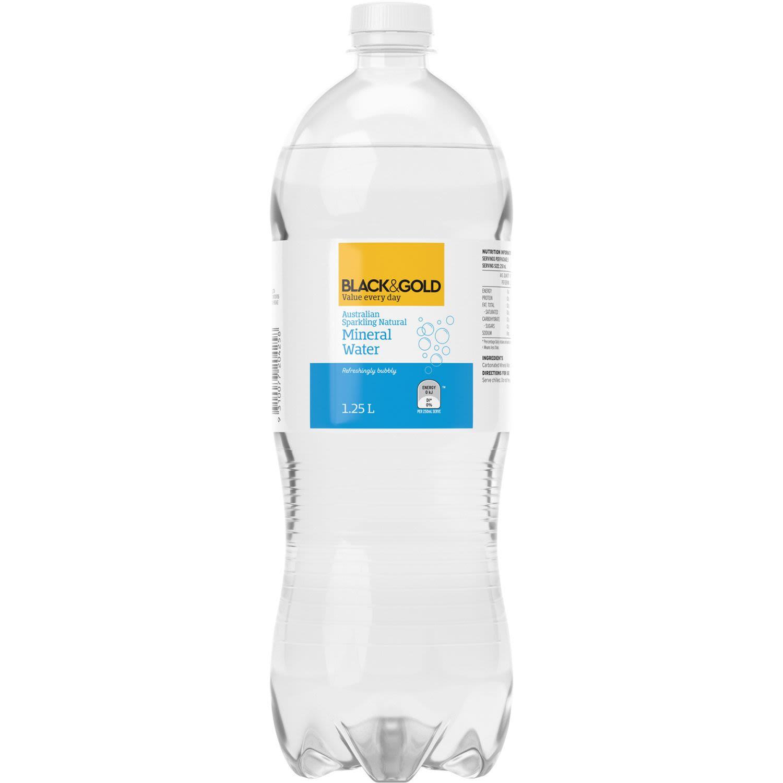 Black & Gold Sparkling Mineral Water, 1.25 Litre